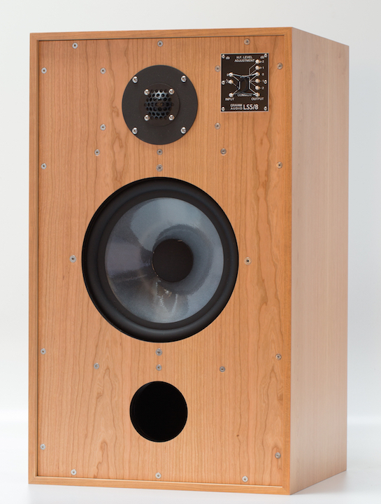 GRAHAM AUDIO LS5-8 CHERRY FRONT WITHOUT GRILLE 0267 CROPPED WS