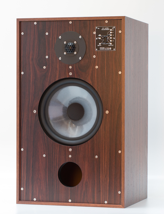 GRAHAM AUDIO LS5-8 ROSEWOOD FRONT WITHOUT GRILLE 0264 CROPPED WS